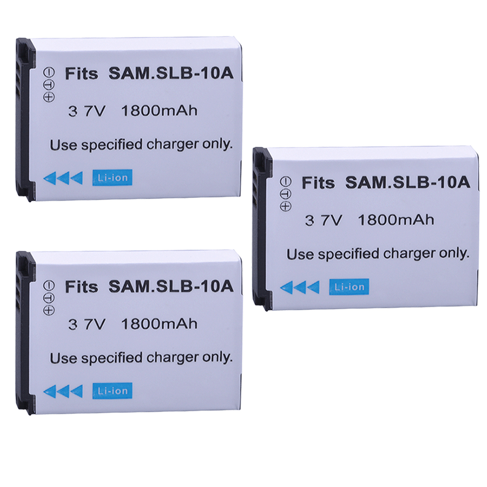 3pc 1800mAh SLB-10A SLB10A SLB 10A Rechargeable Camera Battery for <font><b>Samsung</b></font> EX2F WB150F <font><b>WB250F</b></font> WB350F WB750 WB800F WB500 WB550 image