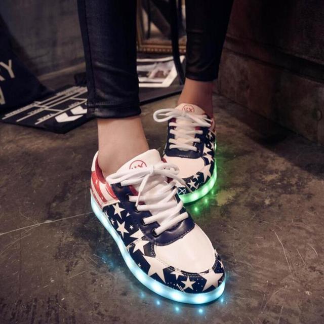 8 colors Children LED Luminous shoes Boys girls USB charging shoes 7 colors glowing fashion kids sport shoes Brand Child sneaker