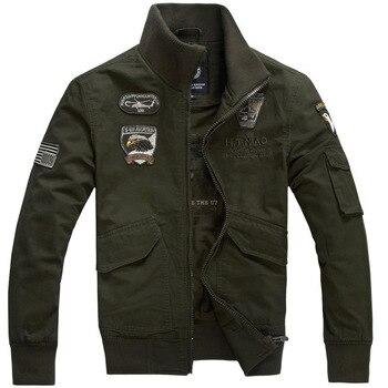 Army Cotton Military Tactical Bomber Jacket Autumn Varsity Jacket Parka Windbreaker Men Windproof Jacket Coat Casual Softshell