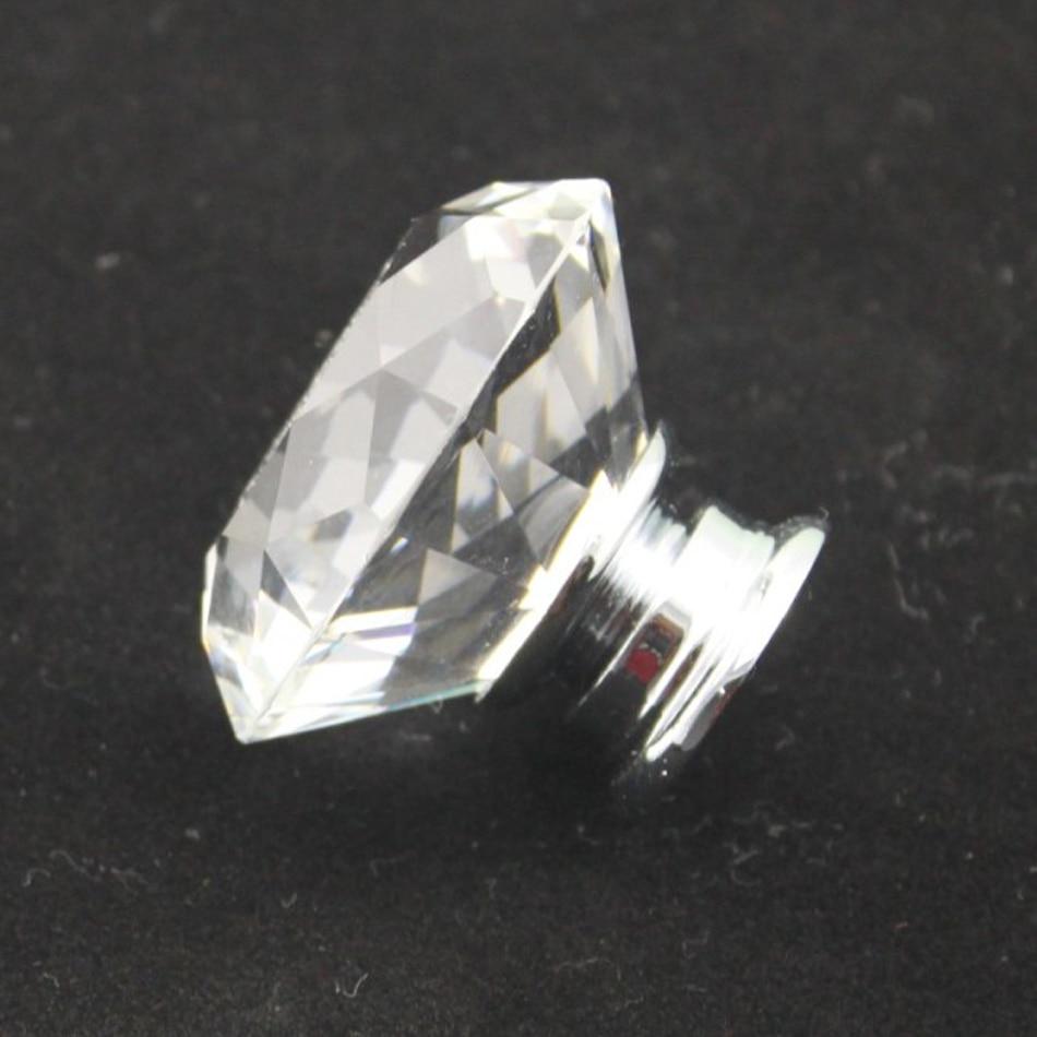 Good 10pcs K9 Crystal Diamond Door Drawer Knobs Closet Handles Zinc Alloy Base  Glass Cabinet Hardware Dresser Knob