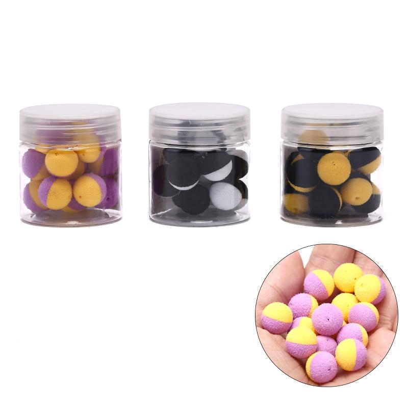 15 шт. приманка для ловли карпа Duo Foam Pop Up Boilies Ball имитация приманки для карпа волосы Zig Rig Фидер для рыбалки
