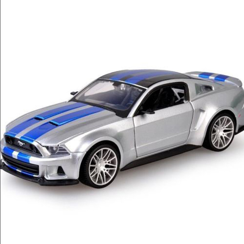 popular 124 scale diecast car model toys ford mustang 2014 racing car vehicle model