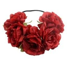 New Euro-American big imitation flower with Bohemian seaside holiday wreath Carnival Party headdress girl