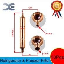 Piezas de refrigerador, válvula de congelador de bola de refrigerante, piezas de repuesto de 110x16mm, piezas de congelador, 10 Uds.