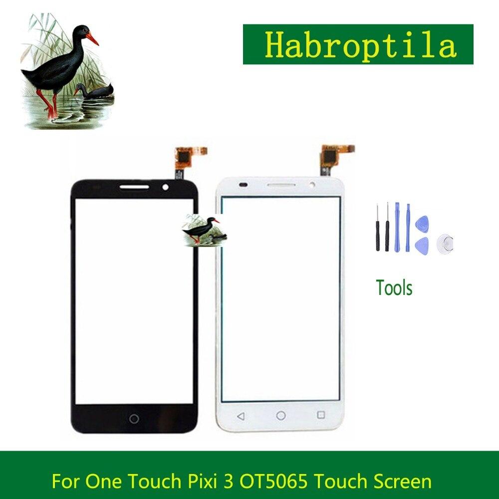 5.0 pour Alcatel One Touch Pixi 3 4G OT5065 5065 5065A 5065D 5065X Écran Tactile Digitizer Capteur Avant Lentille En Verre panneau + de Suivi