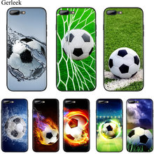 Football Soccer Ball Club Mobile Phone Case TPU for iPhone 11 Pro X XR XS Max XR iPhone 6 6s 7 8 Plus 5 5s SE Cover Protection(China)