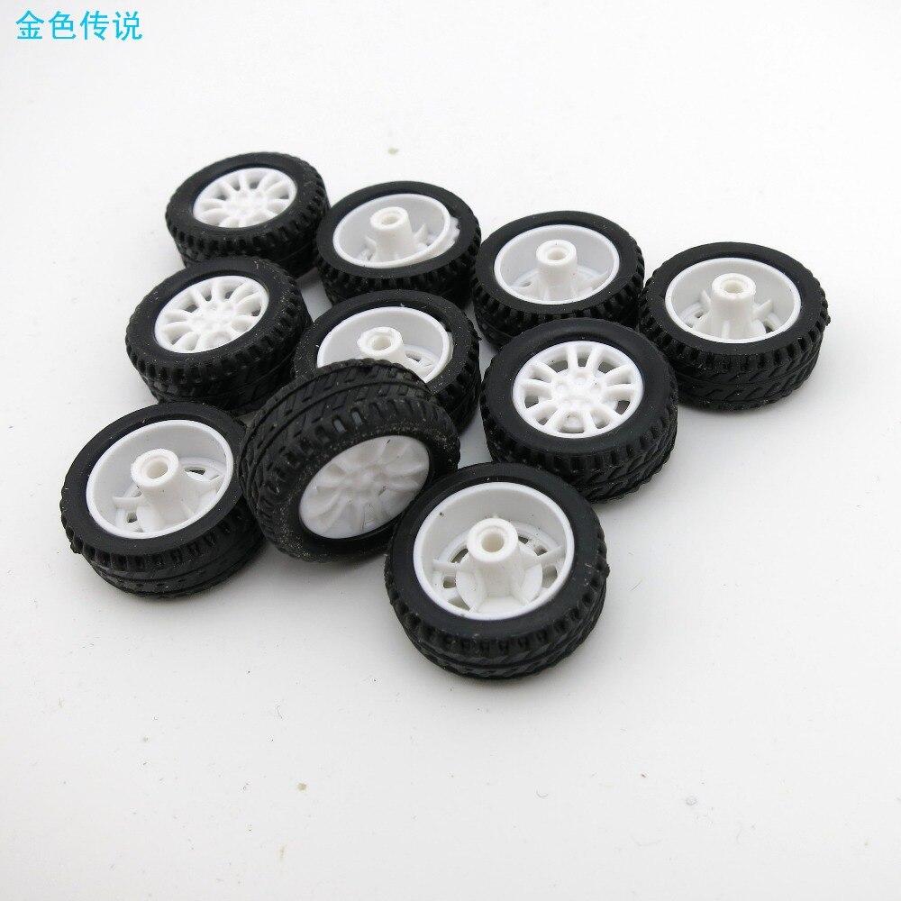 10pcs 20*4*1.9mm Pulley Plastic Wheel Motor Robot Part DIY Car Truck RC Model