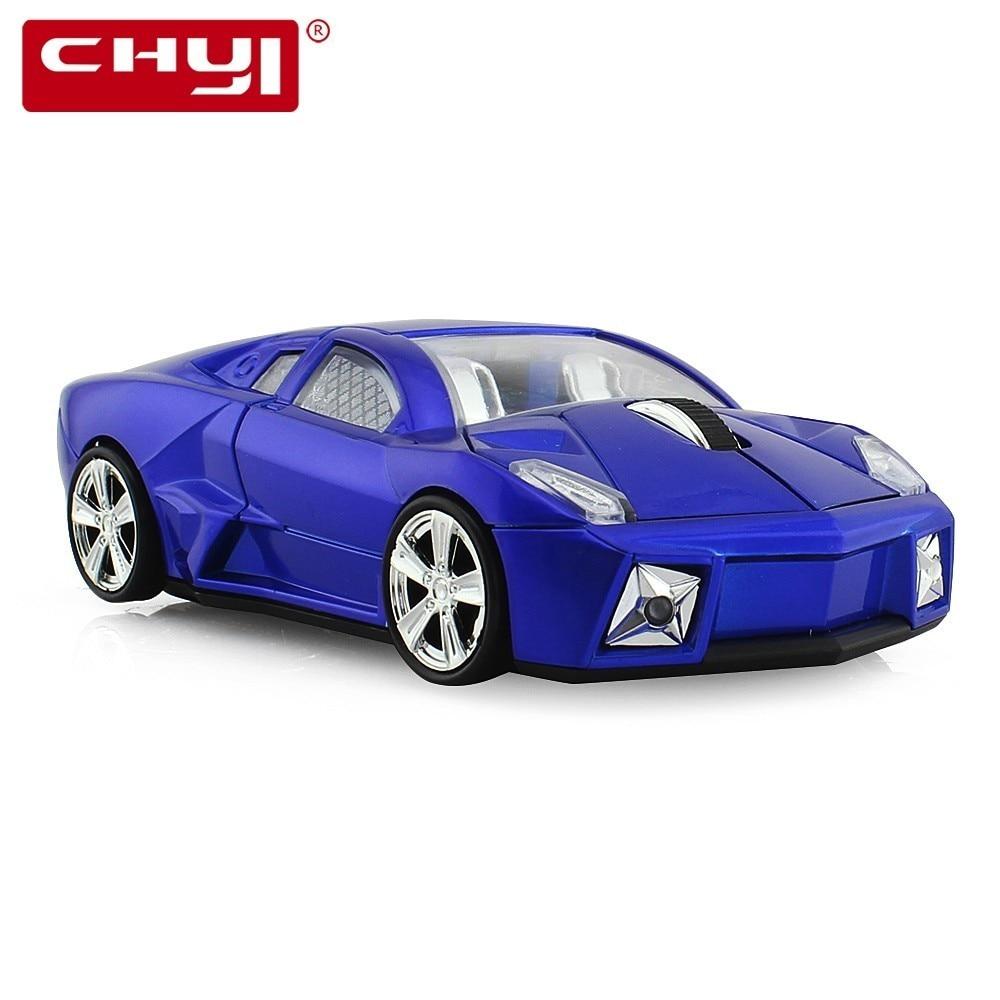CHYI Wireless Mouse Ergonomic 2.4Ghz 1600 DPI Super Gallardo Aventador Bullfighting Car Mouse For PC Laptop Desktop Sports Car