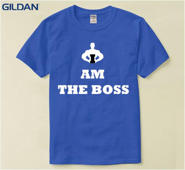 Formal Men T Shirt Am The Boss Unisex T-Shirt Men Short Sleeve Funny T Shirt Pop