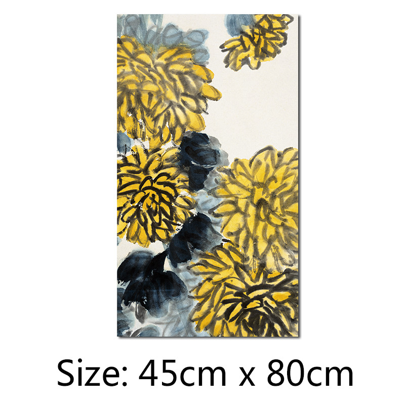 Ink Famous Chinese Paintings decoration wall art picture yellow ...