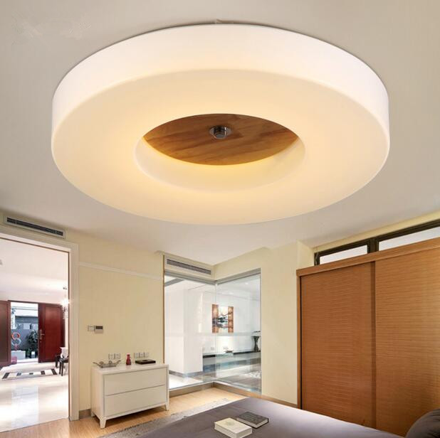 Northern Europe LED Living Room Ceiling Lamp Simple Circular Solid Wood Acrylic Bedroom Balcony Aisle Ceiling Lamp Free Shipping vemma acrylic minimalist modern led ceiling lamps kitchen bathroom bedroom balcony corridor lamp lighting study