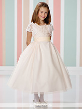 Cupcake Pageant Dress Lovely Tank Ankle-length Flower Girl Dresses For Wedding Lace With Jacket Little Girl Dresses