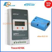 Bluetooth BOÎTE Tracer4210A 40amp 40A MPPT contrôleur solaire système de charge de batterie 12 v/24 v auto travail EPEVER Faible prix