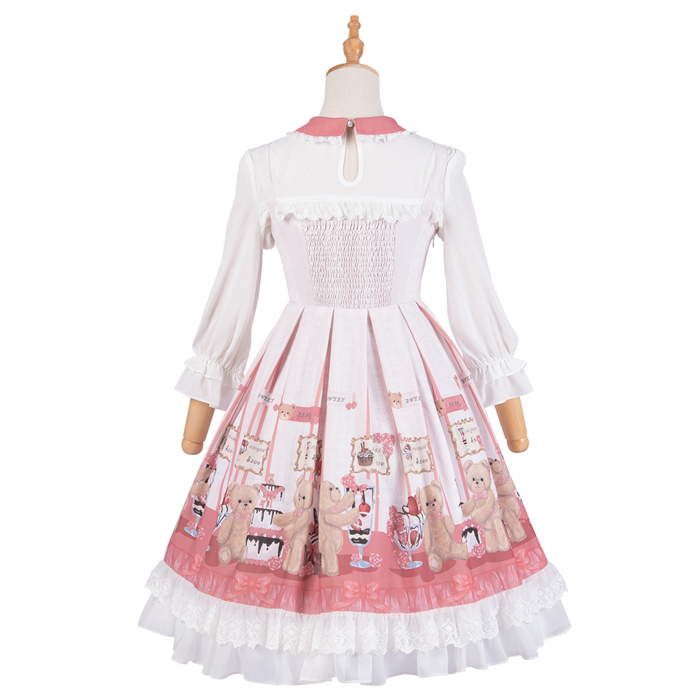 Sweet Lolita Victorian Dress Sleeveless Renaissance Style Skirt Girl Halloween Costumes For Women Fashion Maid Tea Party Cosplay in Lolita Dresses from Novelty Special Use