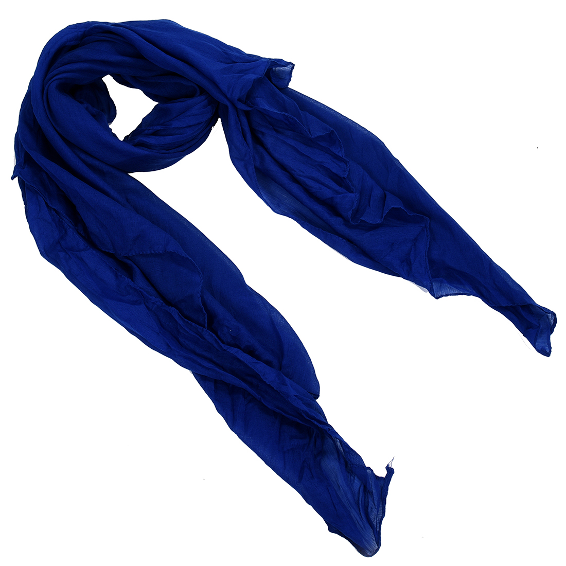 2017 NEW Women Pure Candy Long Crinkle Soft Scarf (Blue)