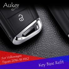 Auto Refit Chiave Coperchio Della Base Trim Sticker Per 2013-2019 Volkswagen Tiguan Touran Teramont Golf 7 7.5 Sportsvan Auto styling