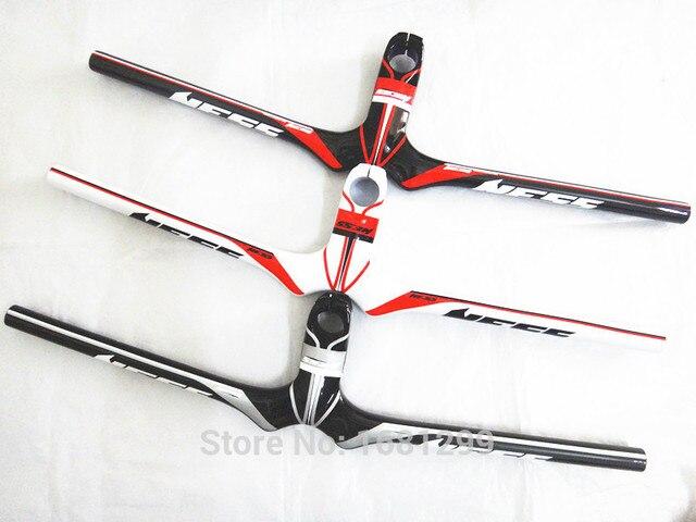 Nowy NESS węgla kierownica rowerowa rower górski węgla kierownica + macierzystych integratived MTB części rowerowe 90 120x580 720mm darmowa wysyłka