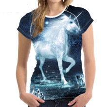 85066e43 Noisydesigns Women Summer T shirt Unicorn Horse 3D Printed Short Sleeve Tops  Tee Shirts Female Round
