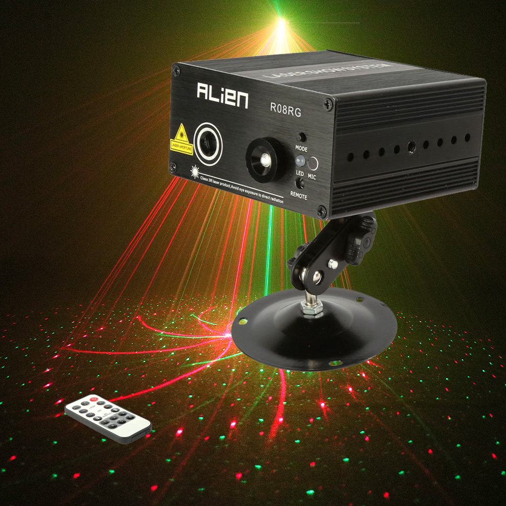 Industrial Light Sound Effect: Mini Laser Stage RGB Lighting Color Disco Light Show