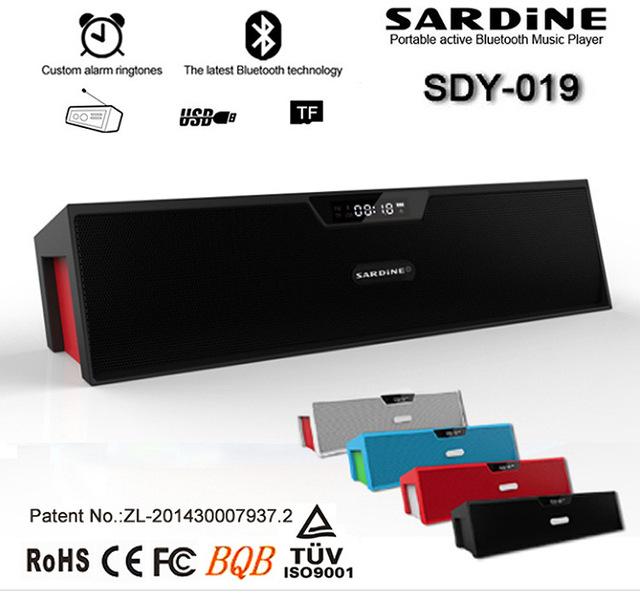 Gran potencia sdy-019 Sardina Mini tarjeta de Radio FM Altavoz Bluetooth Portátil con micrófono inalámbrico España Ruso