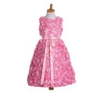 Для маленьких девочек Дизайнерская одежда для дня рождения для маленьких девочек нарядные платья для Маленькая девочка Gold розовый dress для о...