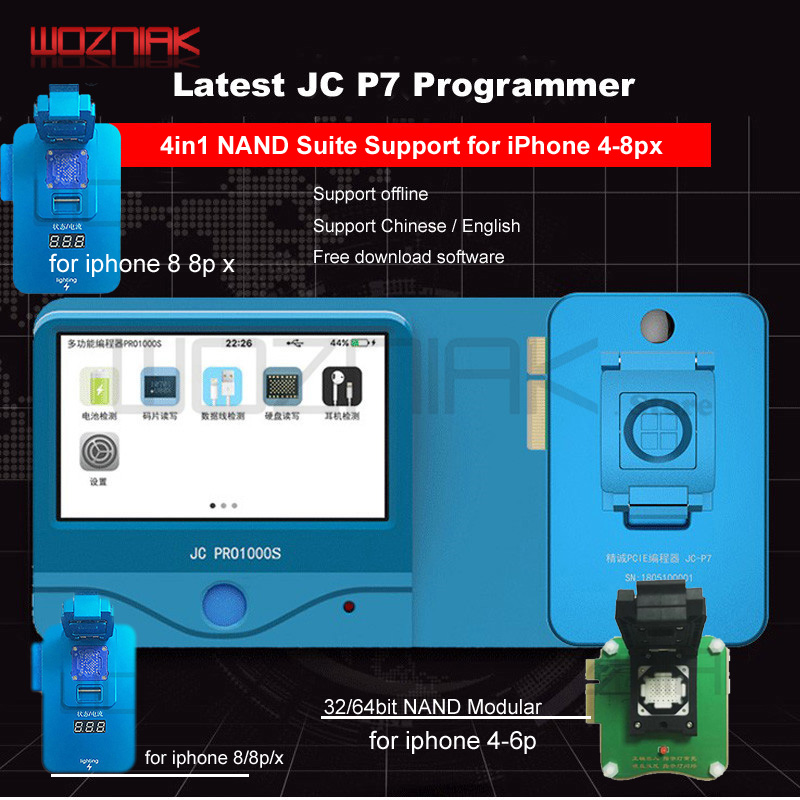 JC Pro1000S Multi-Function HDD NAND Programmer JC P7 NAND Read Write Error Remove For IPhone 5SE 6S 6SP 7 7P 8 8P X