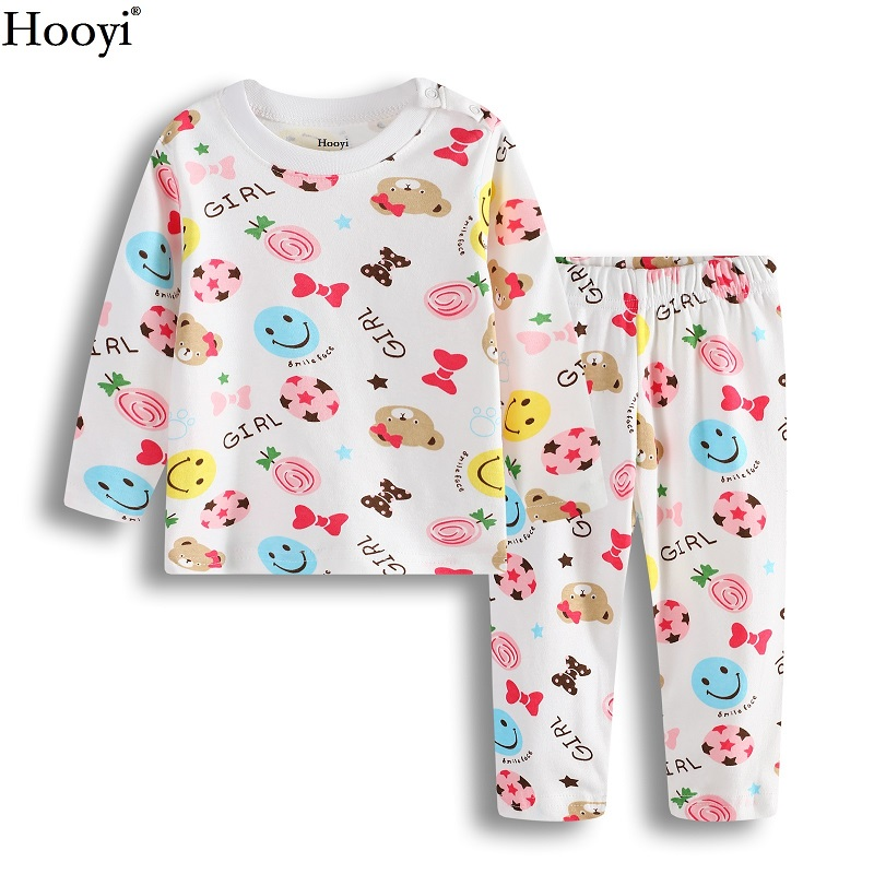 2017 Autumn Baby Girl Sleep Clothes Sets Cute Fashion Bear Girls Pajamas Suit Brand Christmas Infant T-Shirt Trouser Sleepwear