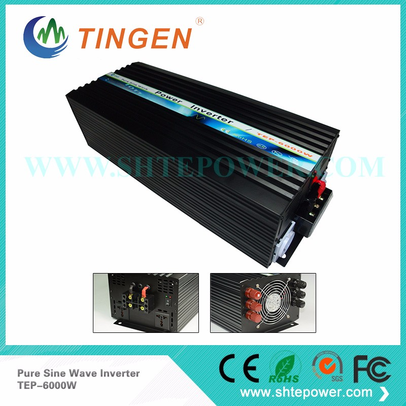 DC12V to AC220V Pure Sine Wave 6KW Solar Off Grid Power Inverter 6kw solar power on grid tie mini 300w inverter with mppt funciton dc 10 8 30v input to ac output no extra shipping fee