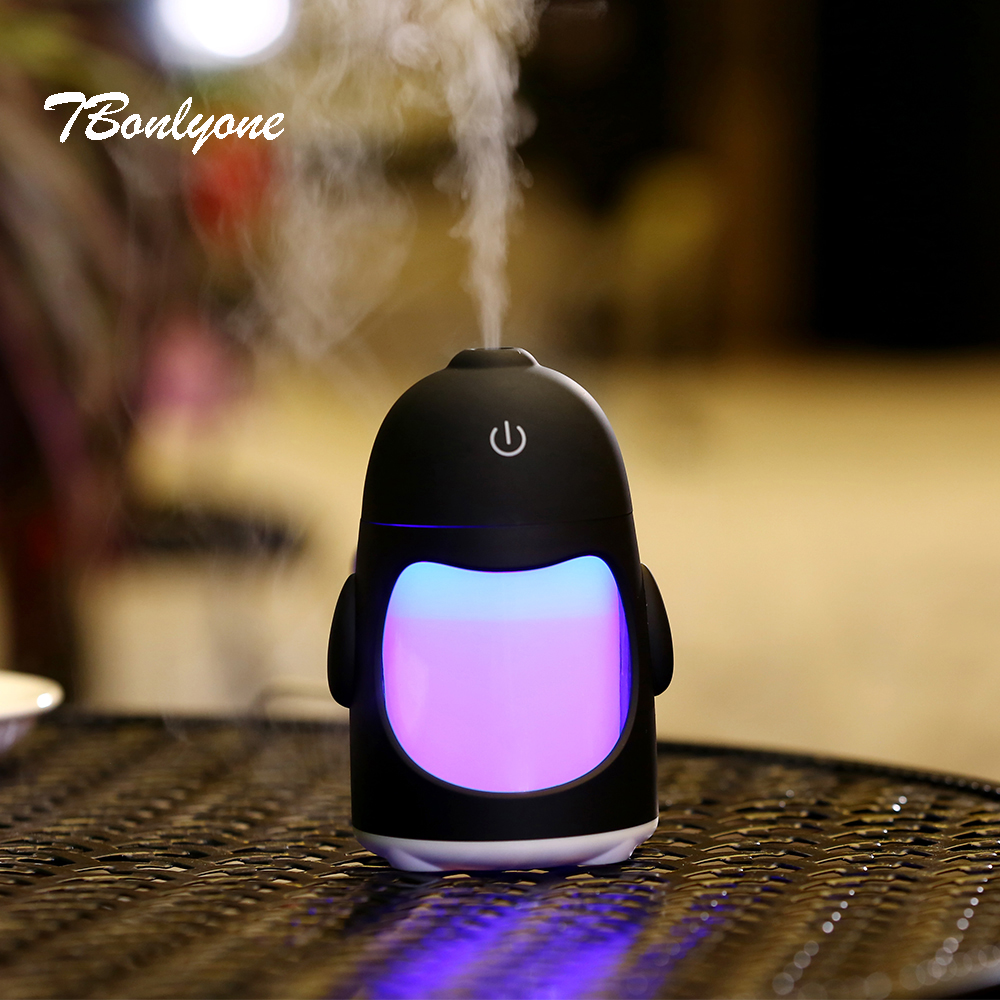 Tbonlyone 150Ml Led Lights Changing Car For Home Travel Office Room Ultrasonic Essential Oil Diffuser Usb Air Aroma Humidifier цена