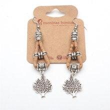A vida da árvore brincos antique sliver árvore de cortiça mulheres brincos handmade lady oscila brincos originais Er-029