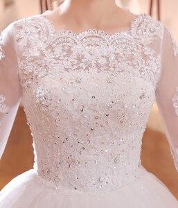 Image 5 - DHL longue Train demi manches broderie dentelle robe De mariée 2020 nouveauté balayage brosse Train princesse robe De mariée Vestido De Noiva