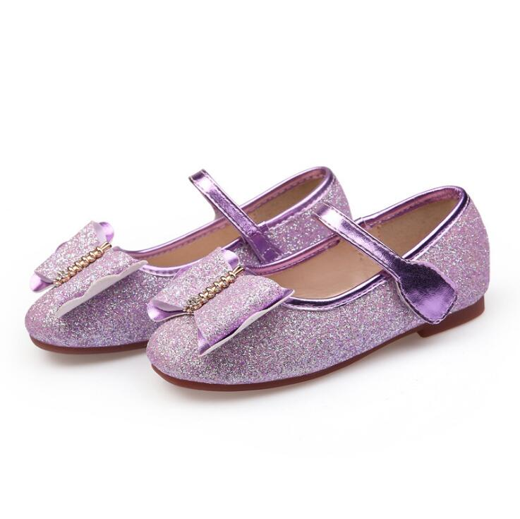 2018 Spring and Autumn New Fashion Childrens Bow Rhinestone Students Princess Single Dance Shoes Cute Flats Girl Children Shoes