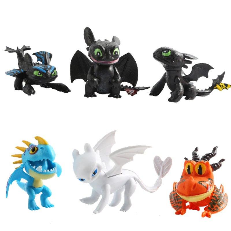 New Dragon Light Fury Night Fury Toothless Action Figure White Dragon Toys Children Birthday Gifts