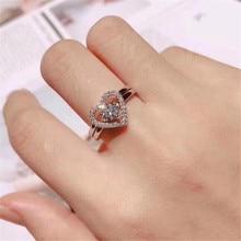2019 YKNRPBH High-quality S925 Sterling Silver Open Set Ring Diamonds Wedding Zircon Fine Jewelry Rings