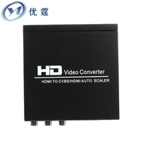 HDMI To HDMI And CVBS Video Converter NTSC And PAL HDMI IN VIDEO And Hdmi OUT