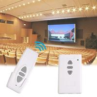 Cewaal 433MHz Wireless Remote Control Transmitter Receiving Controller For Electric Projector Screens Curtains Garage Door
