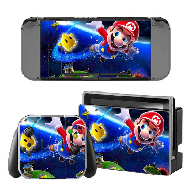 Mario Vinyl Skin Sticker for Switch Console Protector Cover Decal Vinyl Skin for Skins Stickers 3