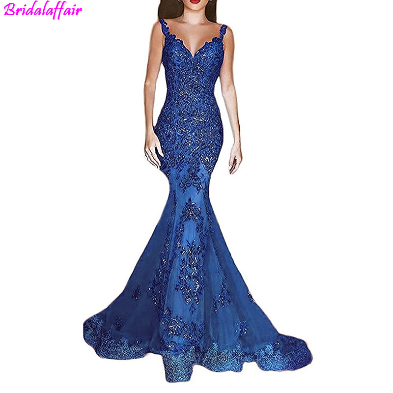 43c72276f2e 2019 Sparkly Silver Sheer High Neck Mermaid Prom Dresses Long Lace Sequins  Beaded Backless Chic Evening Gowns Formal Party Dress-in Prom Dresses from  ...