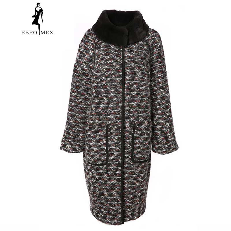 Nouveau Gray Mince Long Blue Rex Fourrure Réel Lapin Vison Col De Mandarin dark Manteaux Mode 2018 Hiver Avec Femmes qzwx1HR