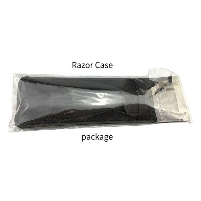 Outils délimination des cheveux couteau à rasoir, rasoirs à tranchant droit pour hommes couteau à raser pliable avec manche en acrylique