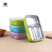 Portable 2 3 Grids Cute Mini Japanese Bento Lunch Boxs With Compartments Microwave Thermal Lunch Boxs