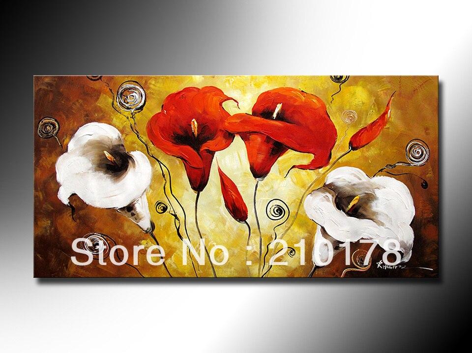 Dipinti Murali E Pittura Ad Ago : Handmade pittura a olio su tela moderna migliore art fiore