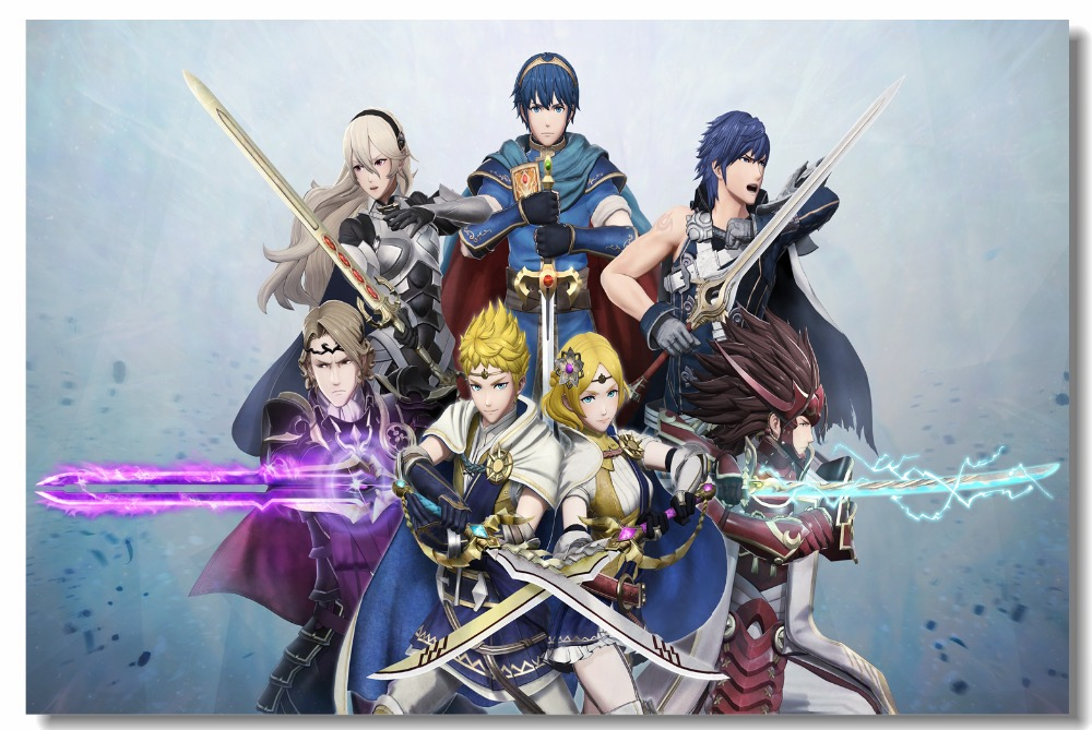 Custom Canvas Wall Mural Fire Emblem Game Poster Fire Emblem Wallpaper Bar Cafe Wall Stickers Office Bedroom Decorations #0742# image