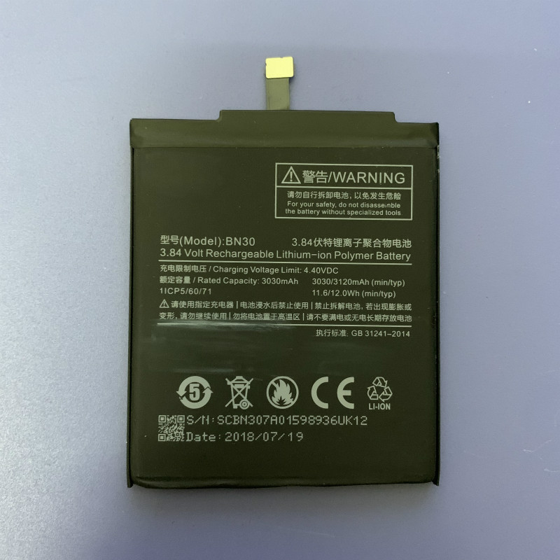 BN30 bn30 Battery for Xiaomi Redmi 4A Phone Battery 3120mAh title=