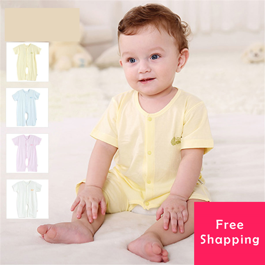 baby romper short sleeve cotton jumpsuit clothes online open file single breasted newborn baby. Black Bedroom Furniture Sets. Home Design Ideas