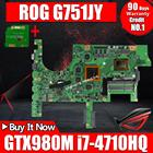 Send board+G751JY Motherboard GTX980M-i7-4710HQ For ASUS G751 G751J G751JY G751JS laptop Motherboard G751JY Mainboard test ok