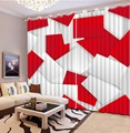 Оконные шторы для спальни  креативные квадратные шторы для гостиной  оконные шторы  белые и красные шторы