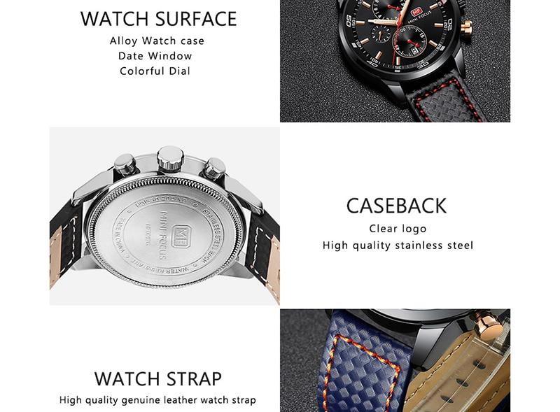 Watches Men 2019 Luxury Brand MINI FOCUS Quartz Fashion Leather Watch Man Chronograph Male Wristwatch Men relogio masculino 2018 (8)