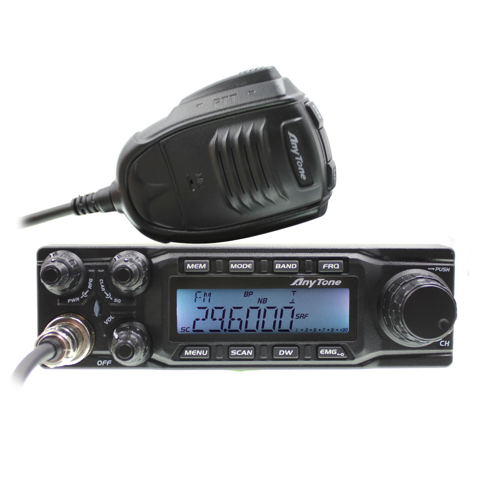 CB Radio Large LCD Displays AT-6666 AM FM USB LSB PW CW 10 Meter 28.000-29.700MHz 40channels + Program Cable