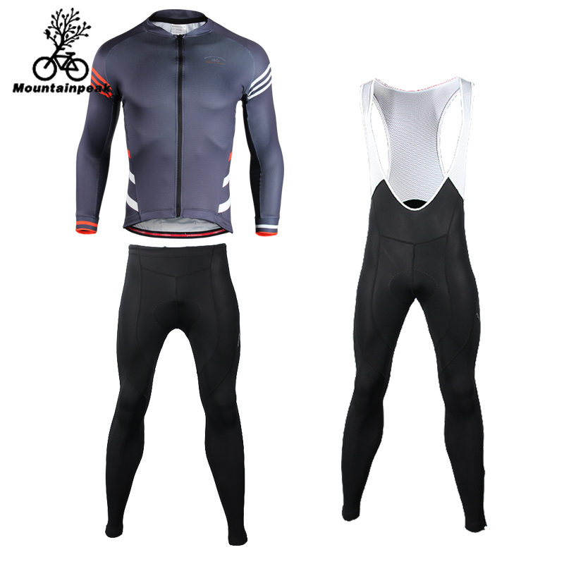 Mountainpeak Abbigliamento Ciclismo Estivo 2018 Riding Suit Male Long Sleeved Jersey Woman Riding Trousers Straps Bicycle